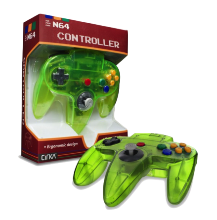 N64 Handkontroll (Jungle Green) Ny