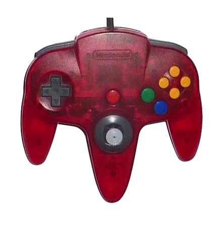 Nintendo 64 Handkontroll Röd/Watermelon Red Transparent beg