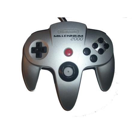 Nintendo 64 Handkontroll Silver Millennium 2000 beg