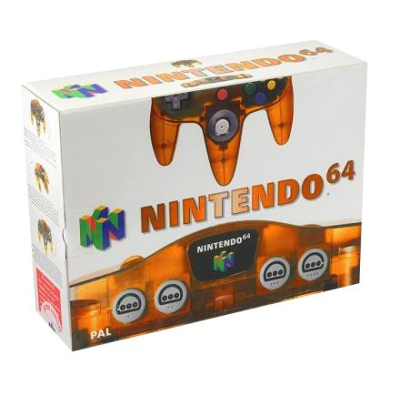 Nintendo 64 basenhet Clear Fire Orange