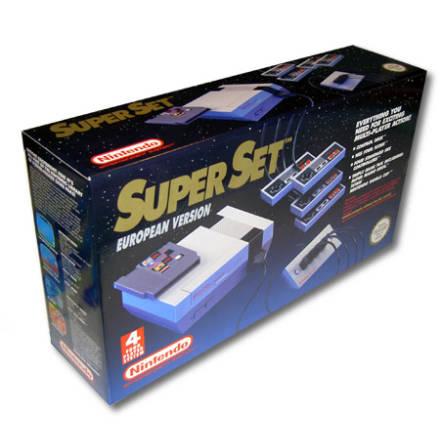 Nintendo Super Set: inkl Konsol, 4 HK, SMB/Tetris/WC, 4-player adapter